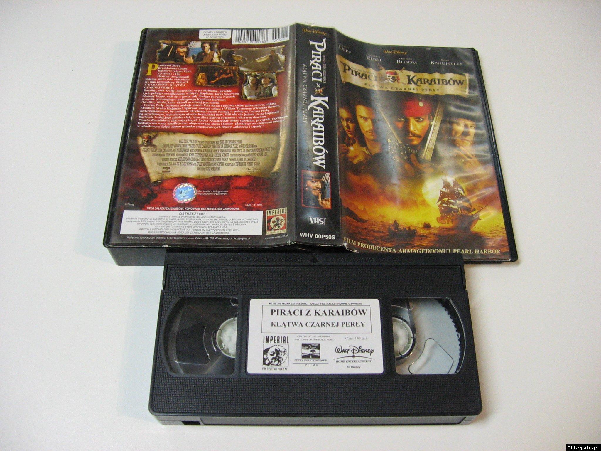 PIRACI Z KARAIBÓW KLONTWA CZARNEJ PERŁY - VHS Kaseta Video - Opole 1742