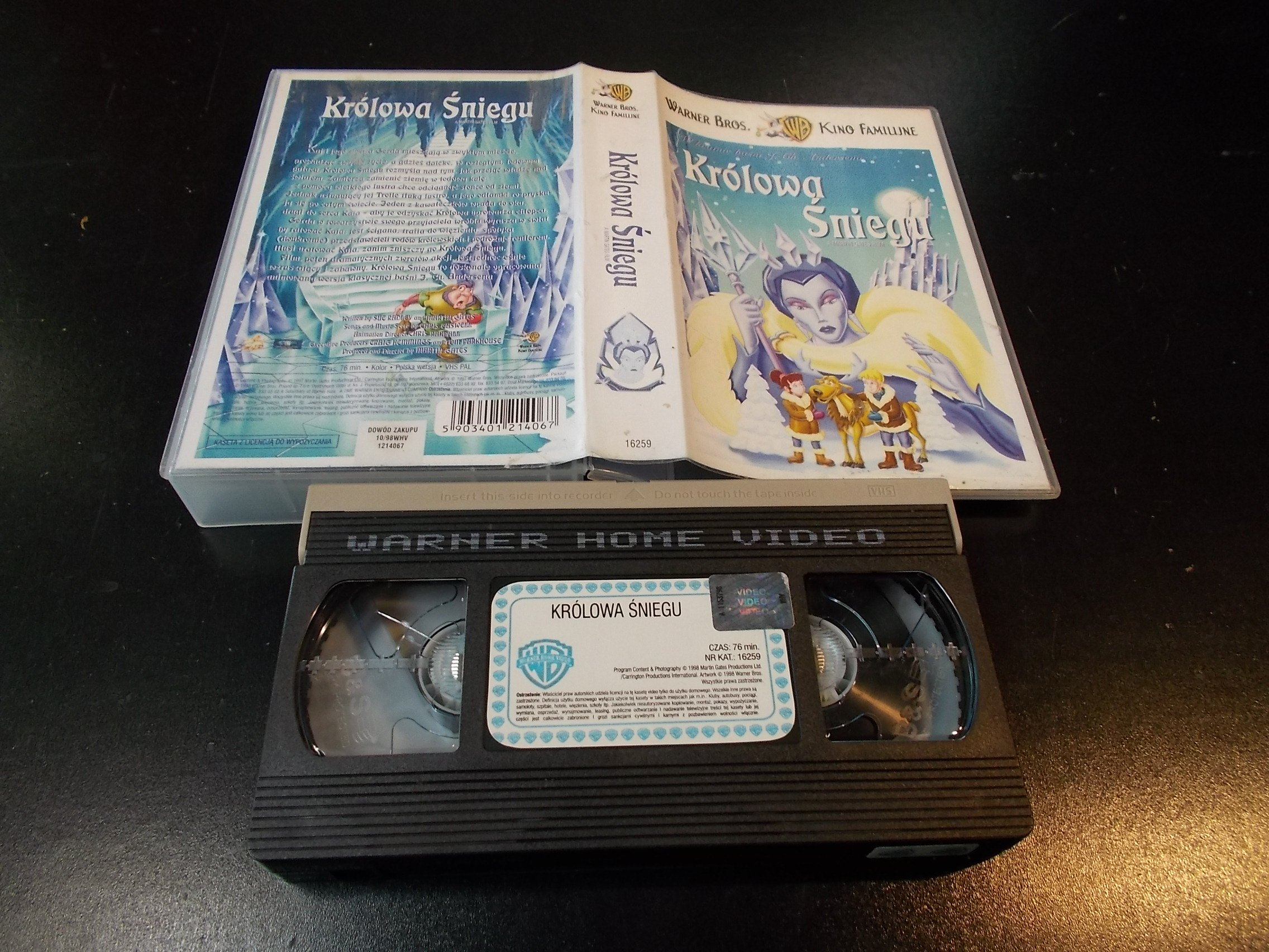 KRÓLOWĄ ŚNIEGU - kaseta Video VHS - 1341 Sklep