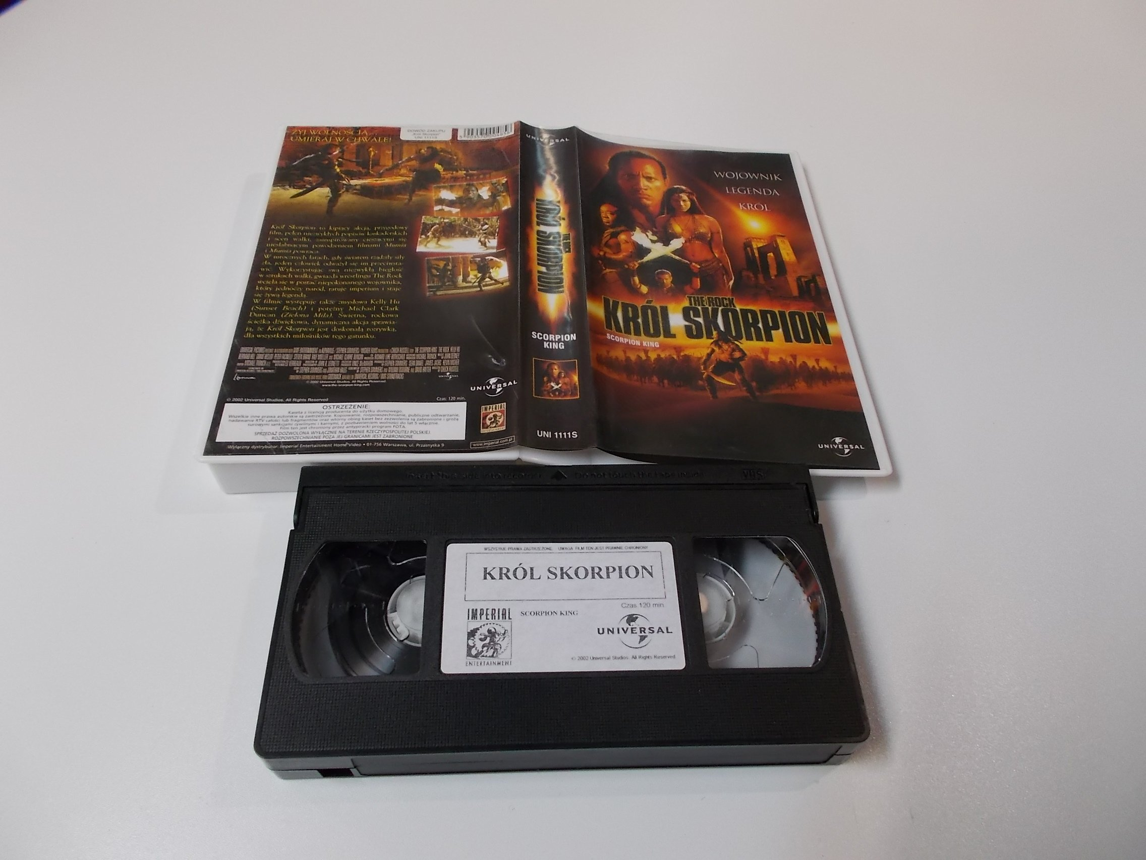 KRÓL SKORPION - VHS Kaseta Video - Opole 1635