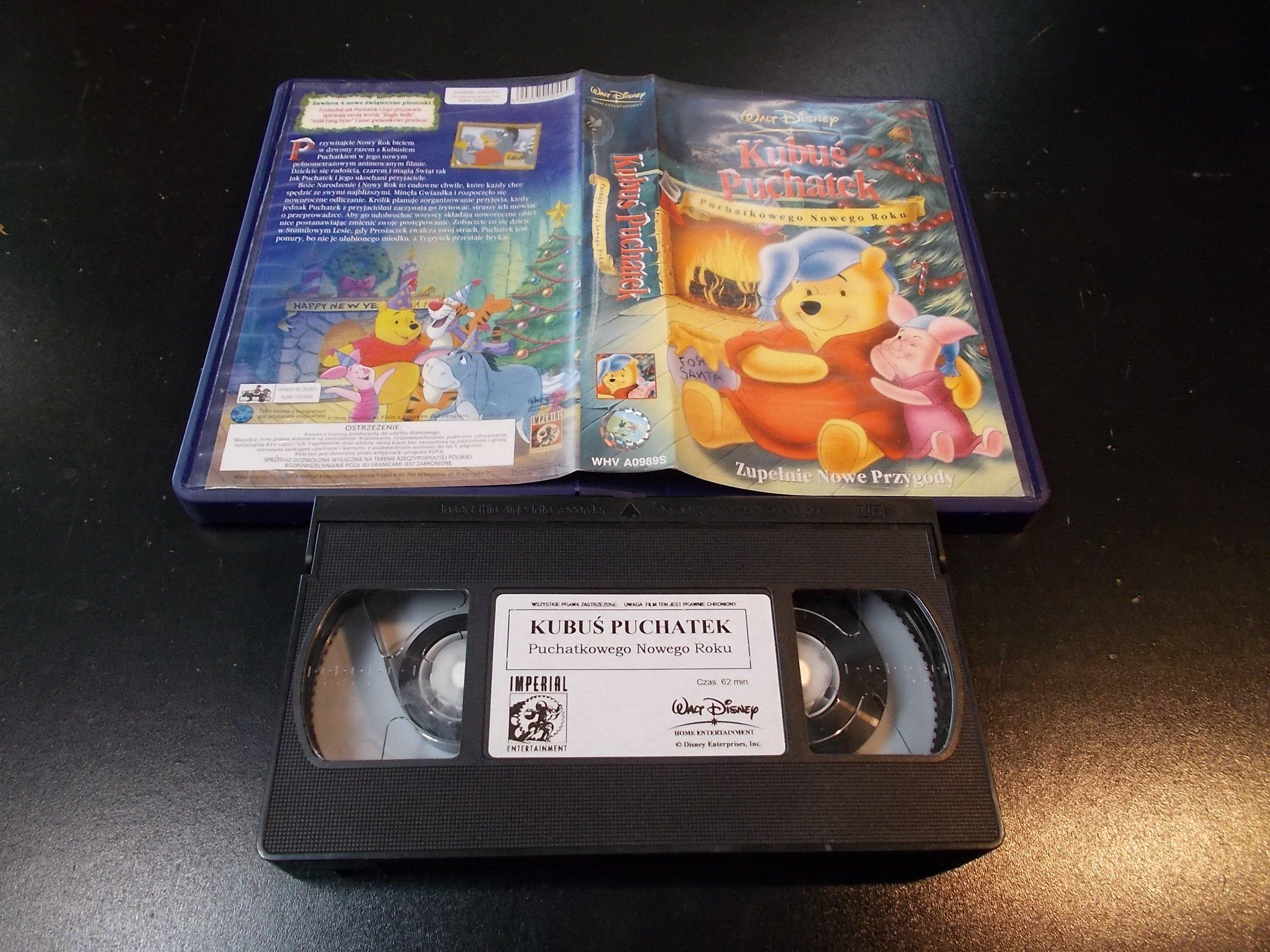 KUBUŚ PUCHATEK PUCHATKOWEGONOWEGO ROKU - kaseta Video VHS - 1351 Sklep
