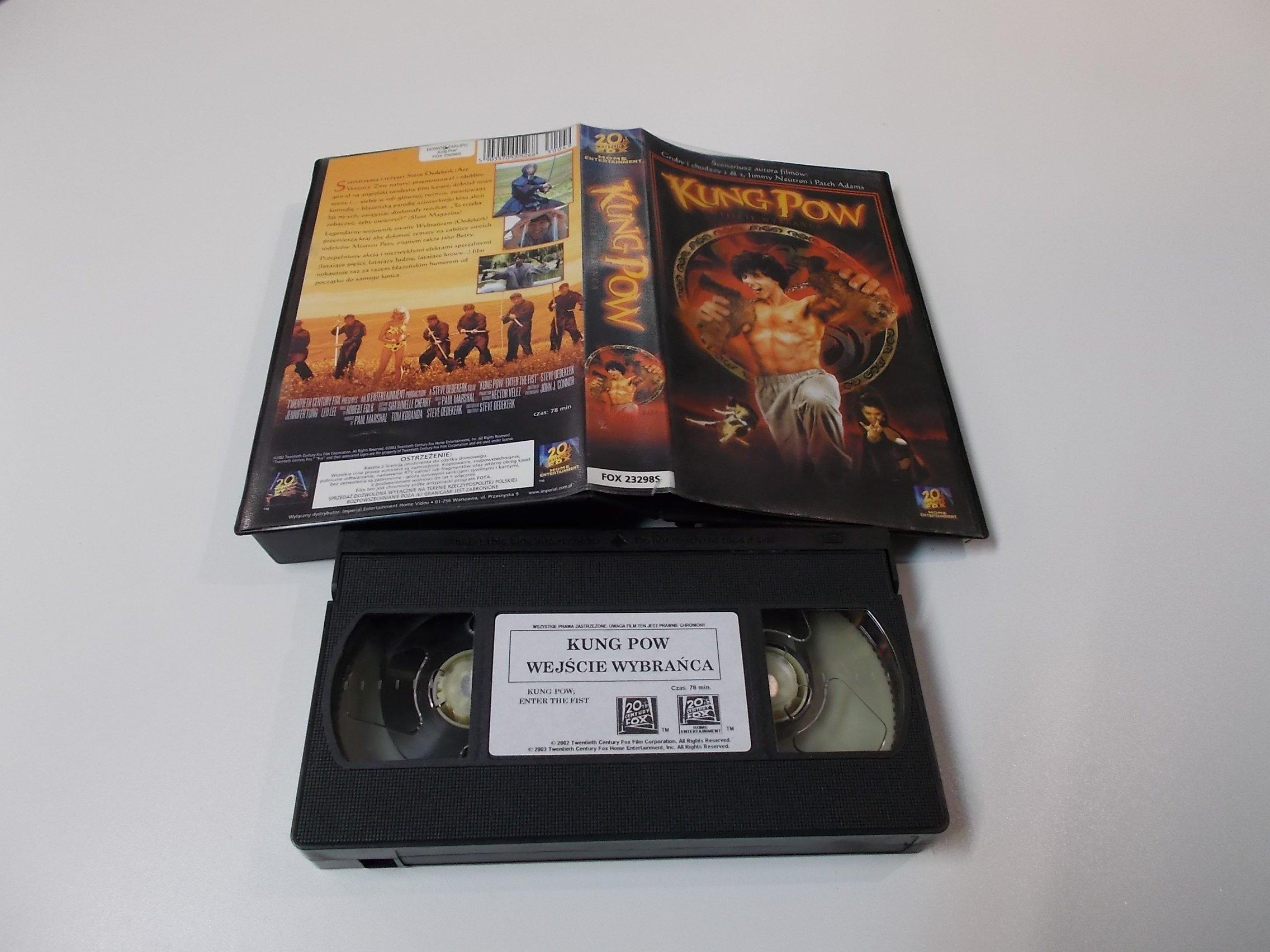 KUNG POW WEJŚCIE WYBRAŃCA - VHS Kaseta Video - Opole 1626