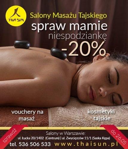 Karta podarunkowa na Dzień Matki -20proc na masaż i kosmetyki.