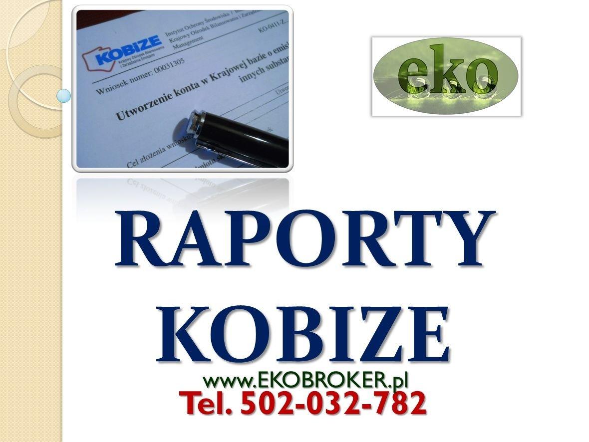 Kobize 2015, raporty kobize, rejestracja w bazie kobize,te 502-032-782,