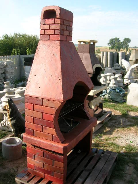 Kominek ogrodowy grillowanie grill betonowy