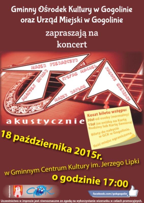 Koncert zespołu TSA m.in. Marek Piekarczyk!