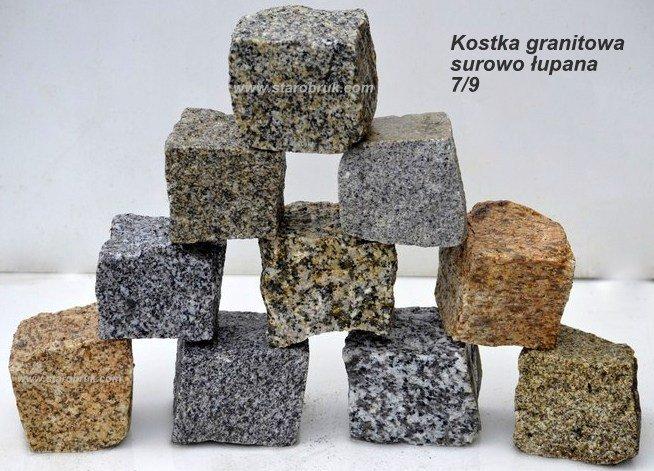 Kostka Granitowa 7/9 STAROBRUK NOWOŚĆ 300zł GRATIS