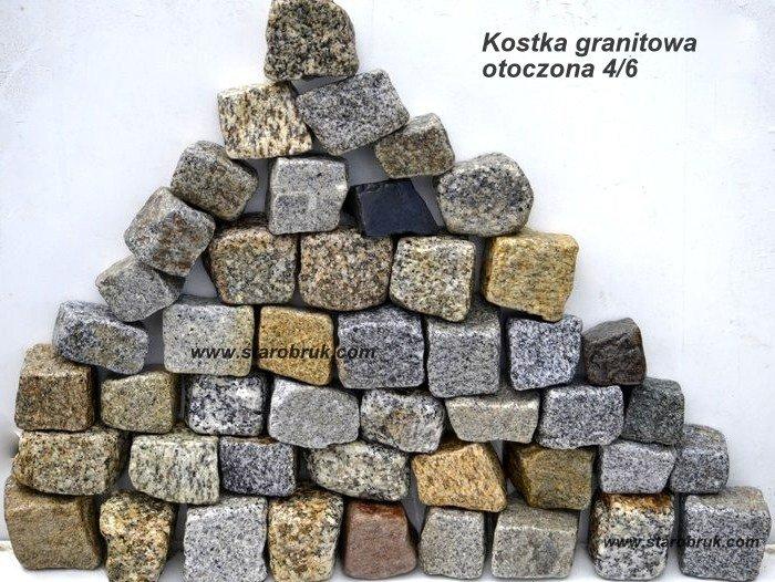Kostka granitowa 4/6 otoczona kolor mix producent Wrocław