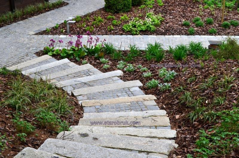 Krawężniki rustykaln oporniki schody ogrodzenia