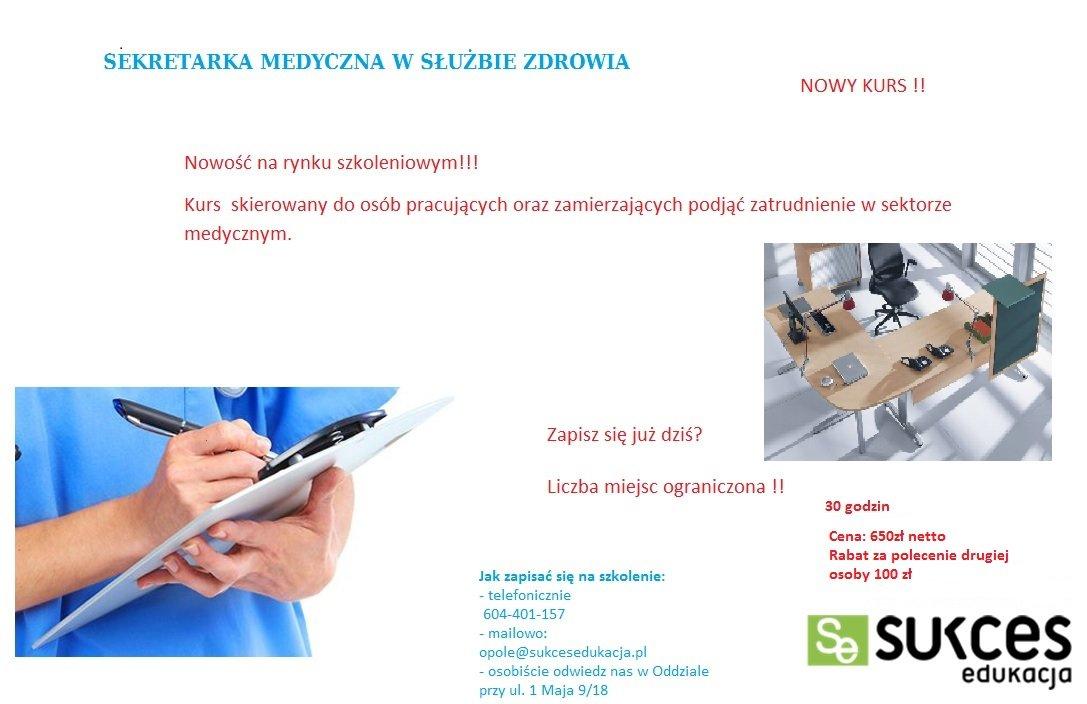 Kurs Sekeretarka Medyczna