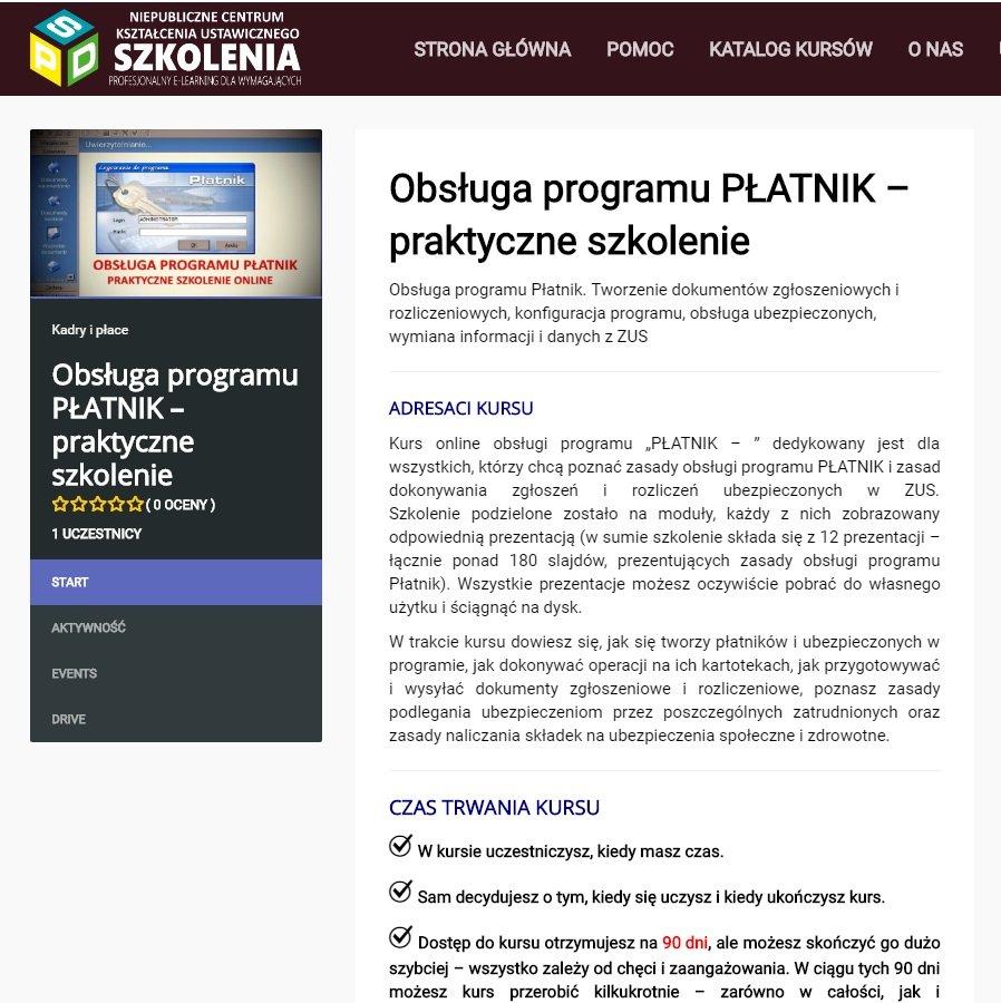 """Kurs """" Obsługa programu PŁATNIK"""" - SPD SZKOLENIA – praktyczne szkolenie online"""