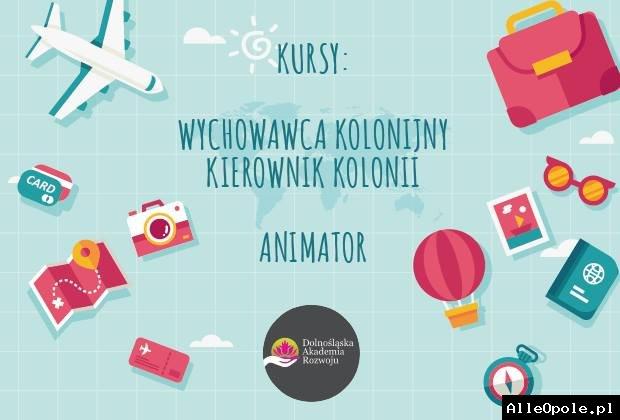 Kursy: wychowawca i kierownik kolonii, animator   Opole 2.07