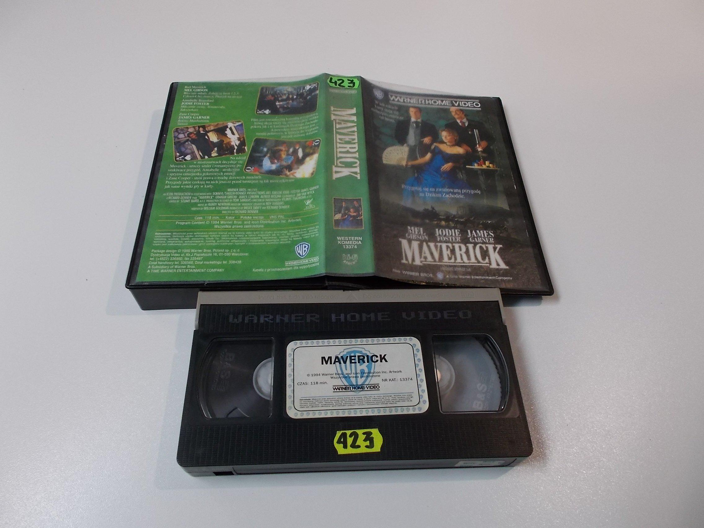 MAVERICK - Kaseta Video VHS - Opole 1581