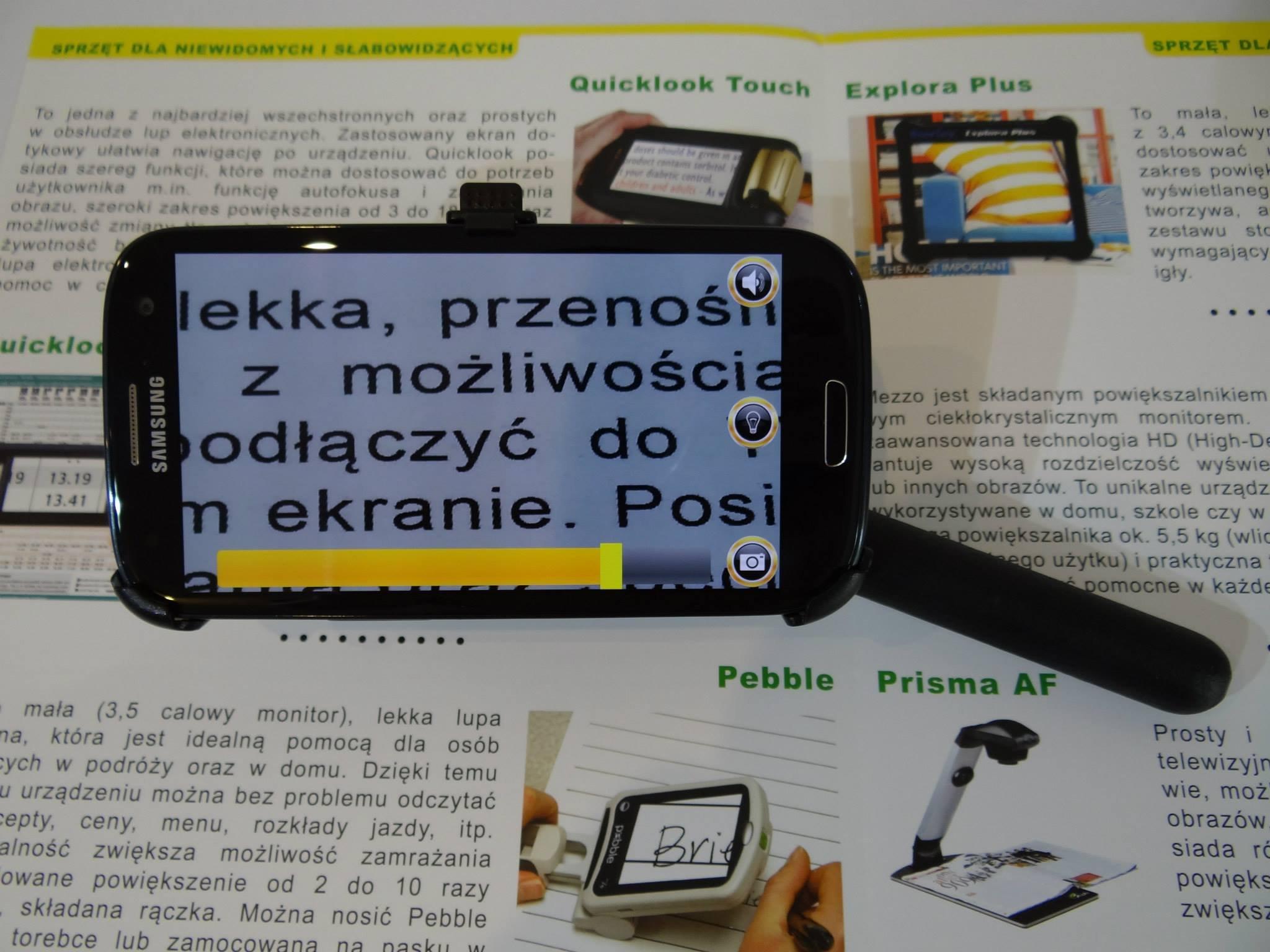 MIRAcle - lupa elektroniczna z udźwiękowionym telefonem!