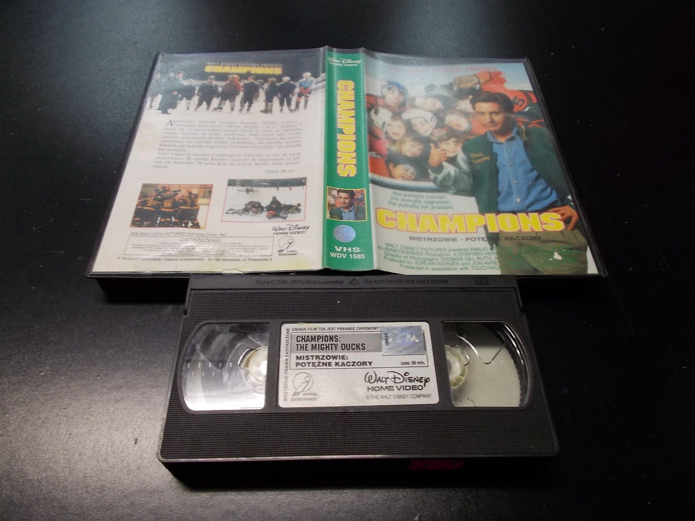 MISTRZOWIE POTĘŻNE KACZORY -  kaseta Video VHS - 1313 Opole - AlleOpole.pl