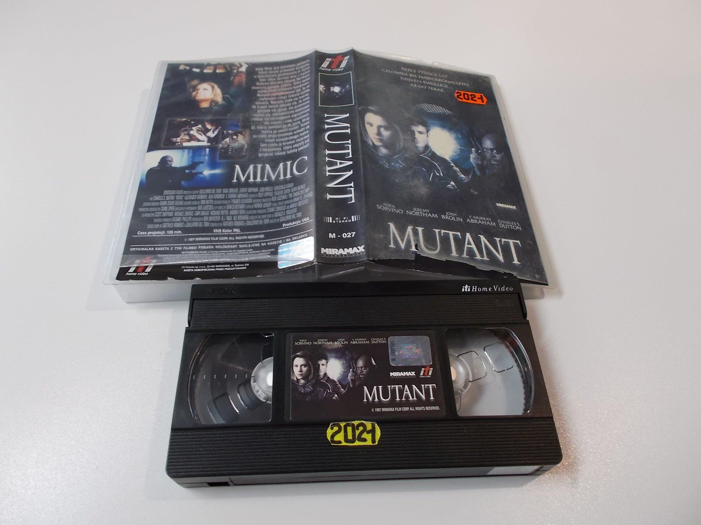 MUTANT - Kaseta Video VHS - Opole 1563