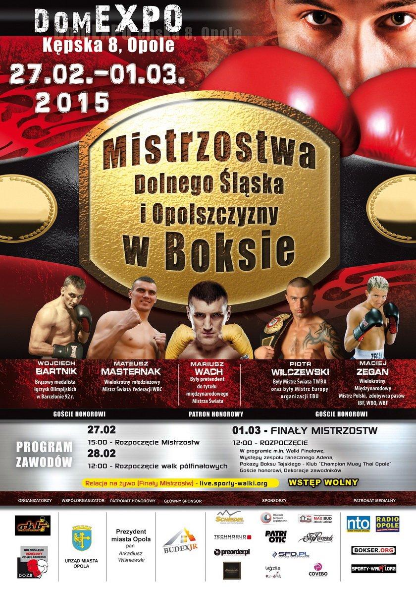 Mistrzostwa Dolnego Śląska i Opolszyzny w boksie olimpijskim.