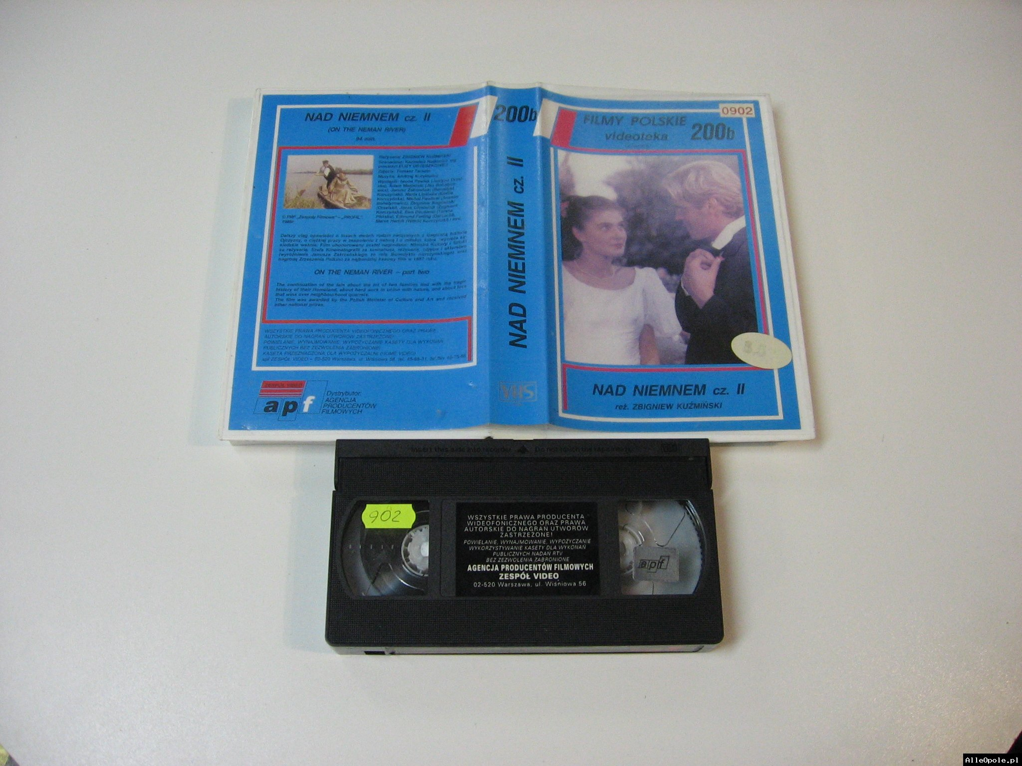 NAD NIEMNEM 2  - VHS Kaseta Video - Opole 1784