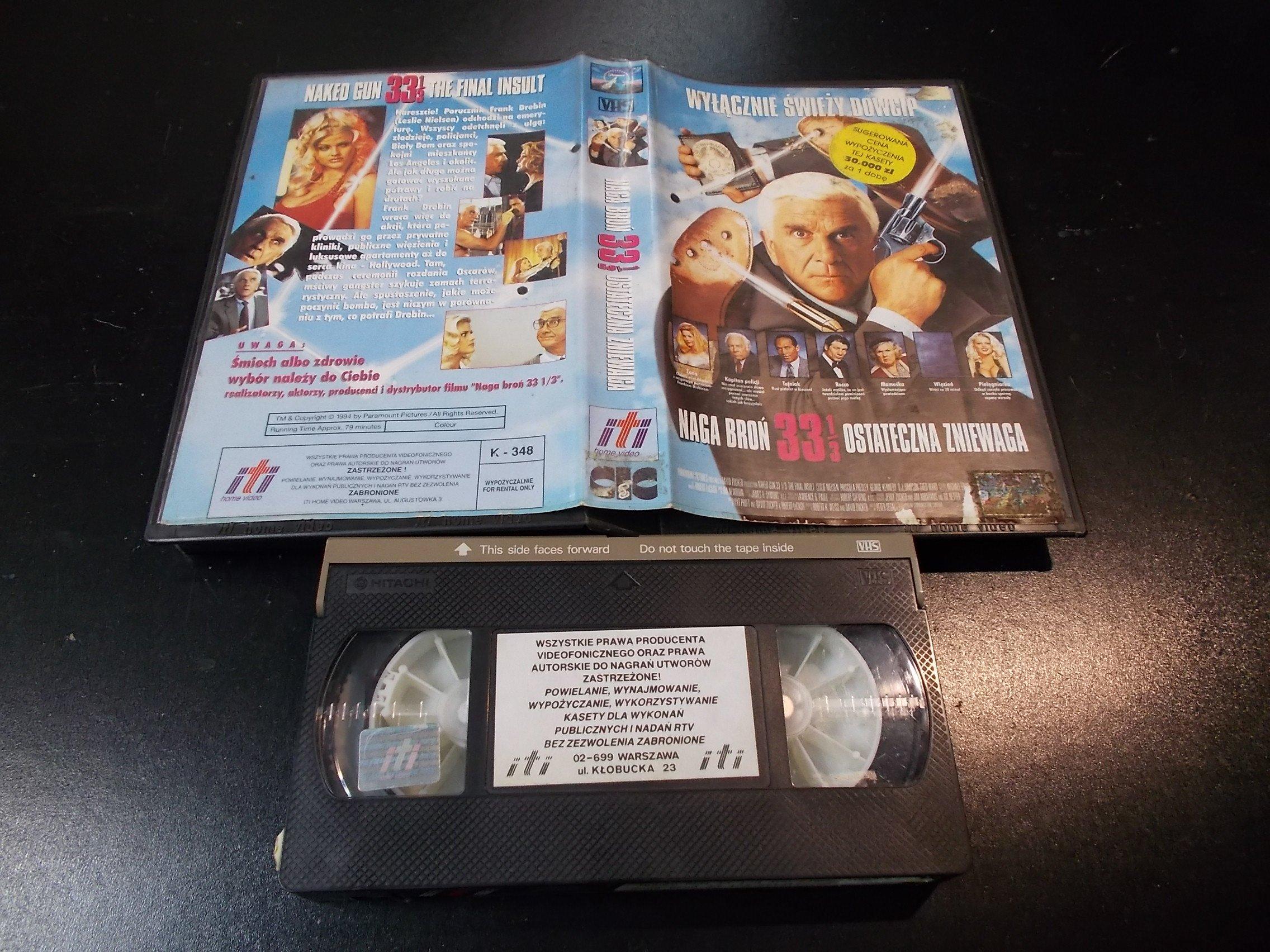 NAGA BROŃ 33 1/2 - kaseta Video VHS - 1384 Sklep