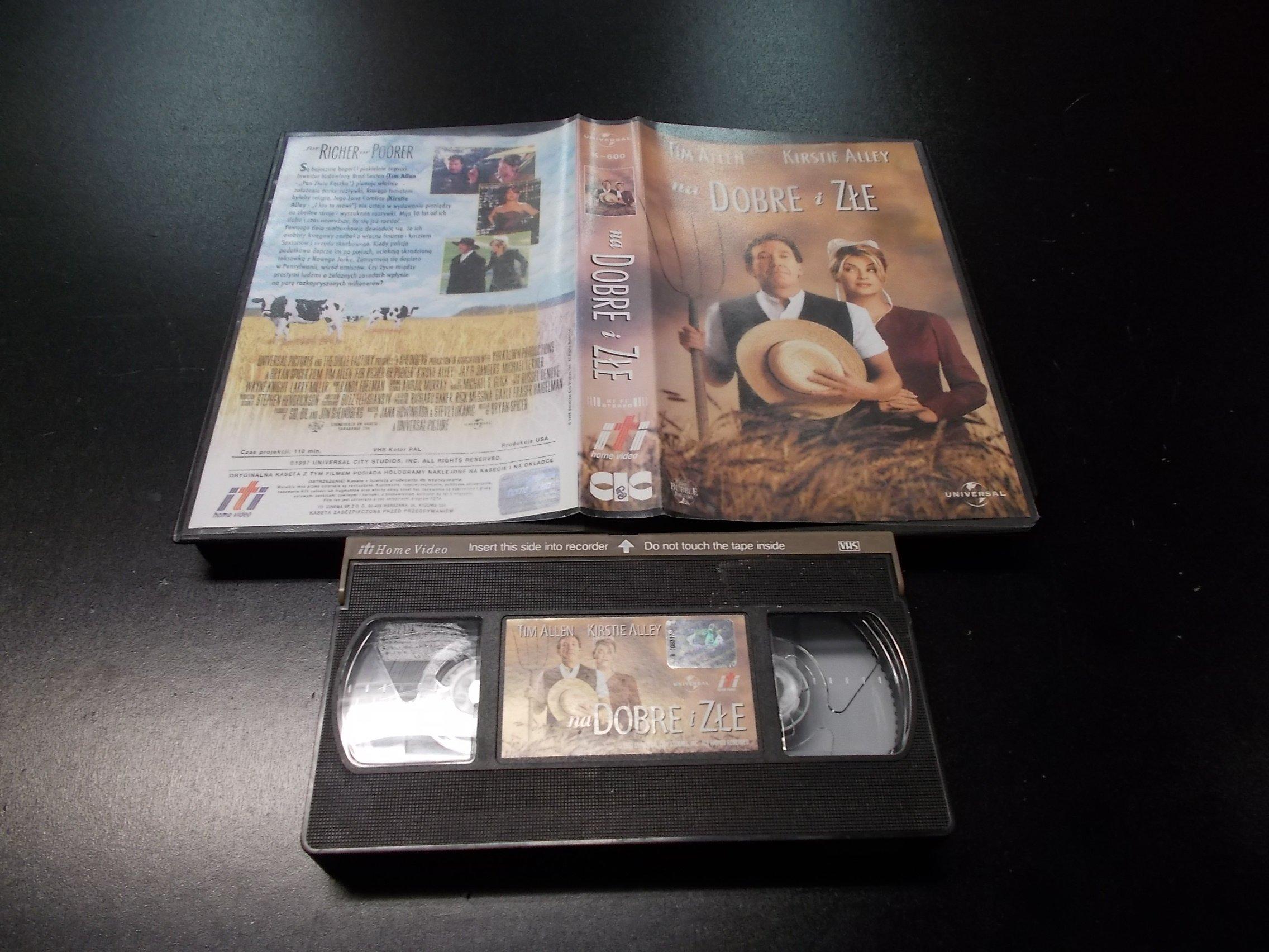 NA DOBRE I ZŁE -  kaseta VHS - 1202 Opole - AlleOpole.pl