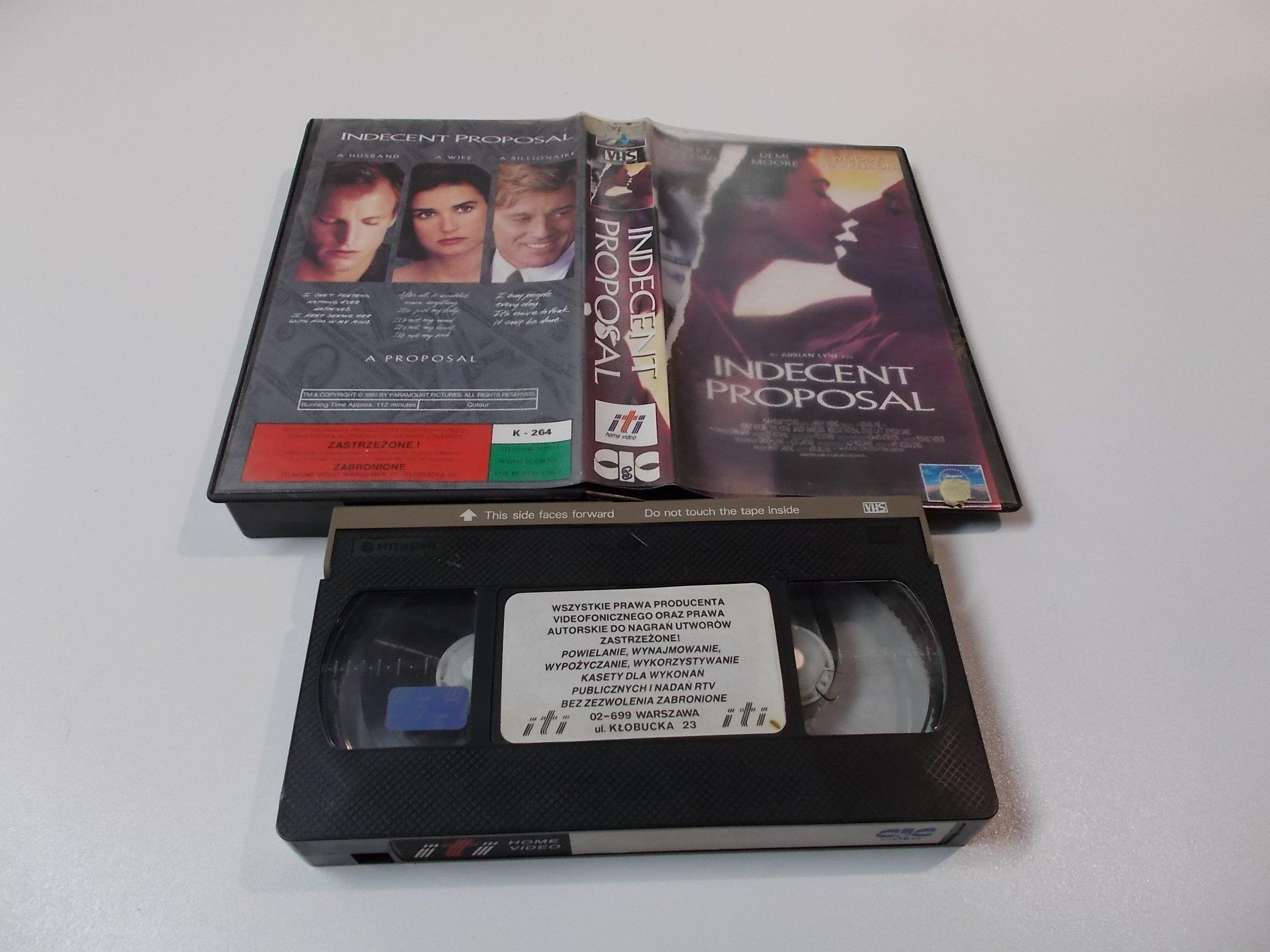 NIEMORALNA PROPOZYCJA - Kaseta Video VHS - Opole 1553
