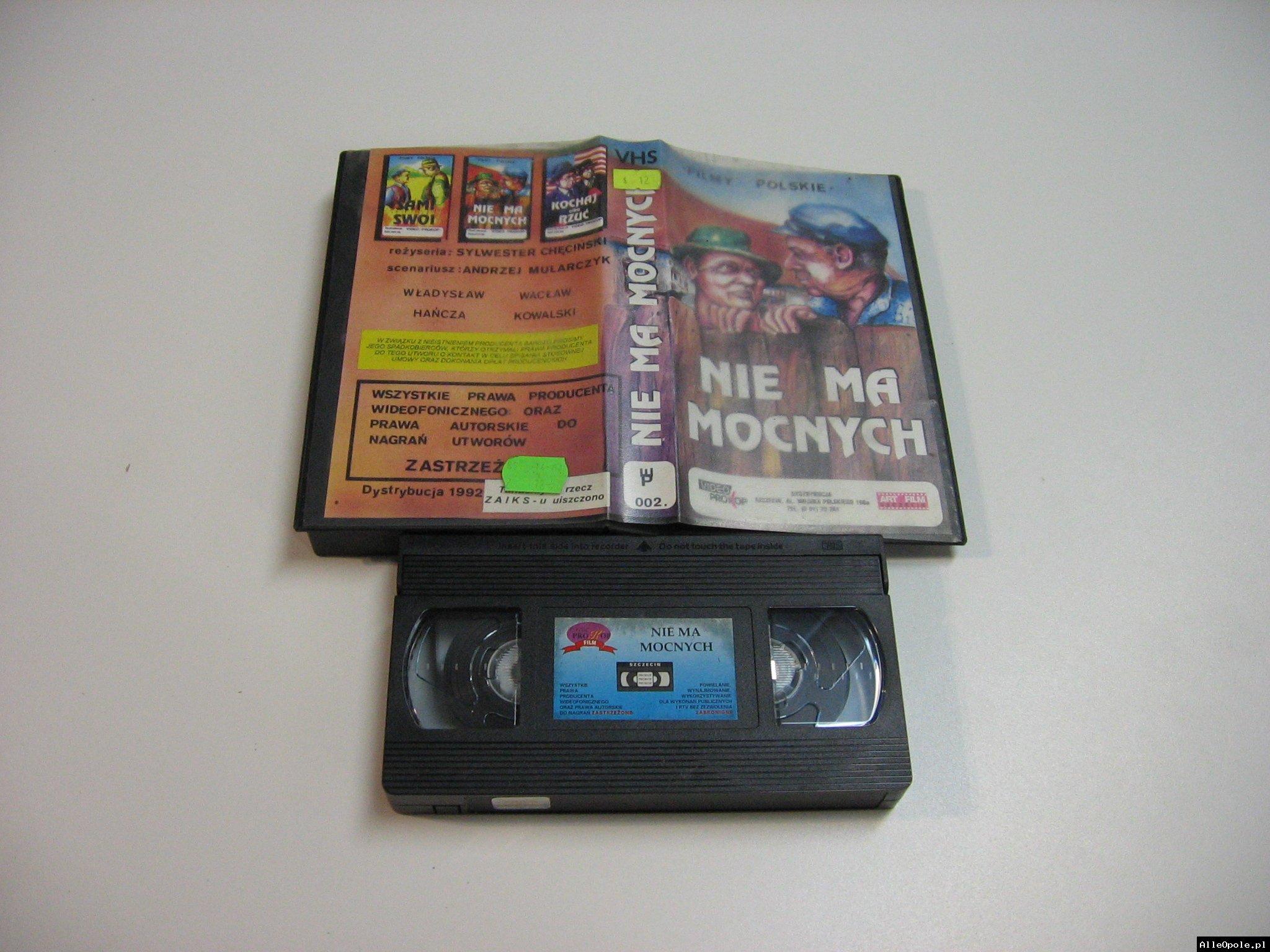 NIE MA MOCNYCH - VHS Kaseta Video - Opole 1798