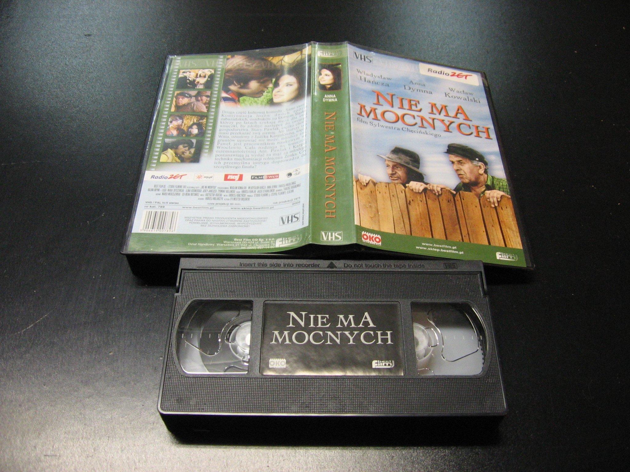 NIE MA MOCNYCH - WŁADYSŁAW HAŃCZA - WACŁAW KOWALSKI -  kaseta VHS - 1134 Opole - AlleOpole.pl