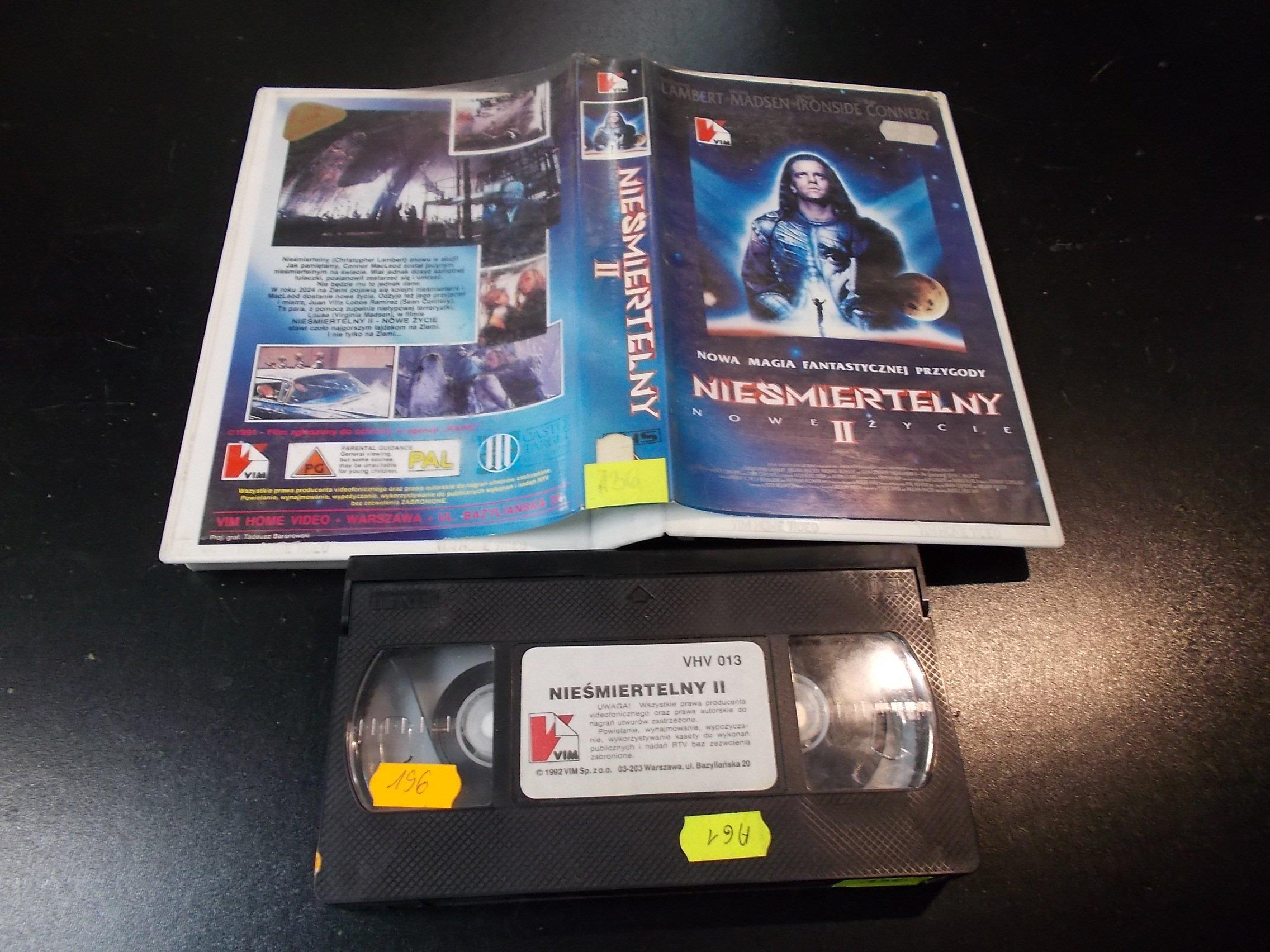 NIEŚMIERTELNY 2 - kaseta Video VHS - 1383 Sklep