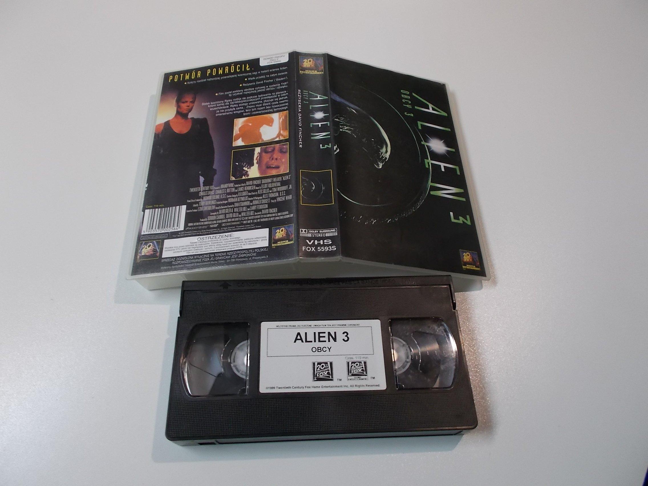 OBCY 3 - ALIEN 3 - Kaseta Video VHS - 1485 Opole - AlleOpole.pl