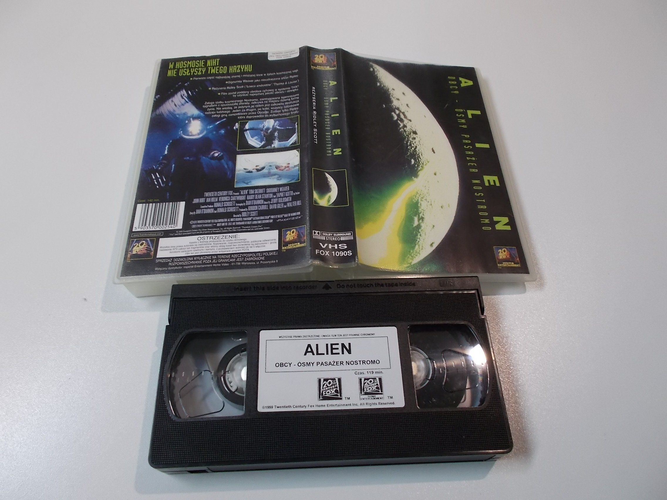 OBCY ÓSMY PASAŻER NOSTROMO - ALIEN - Kaseta Video VHS - 1479 Opole - AlleOpole.pl