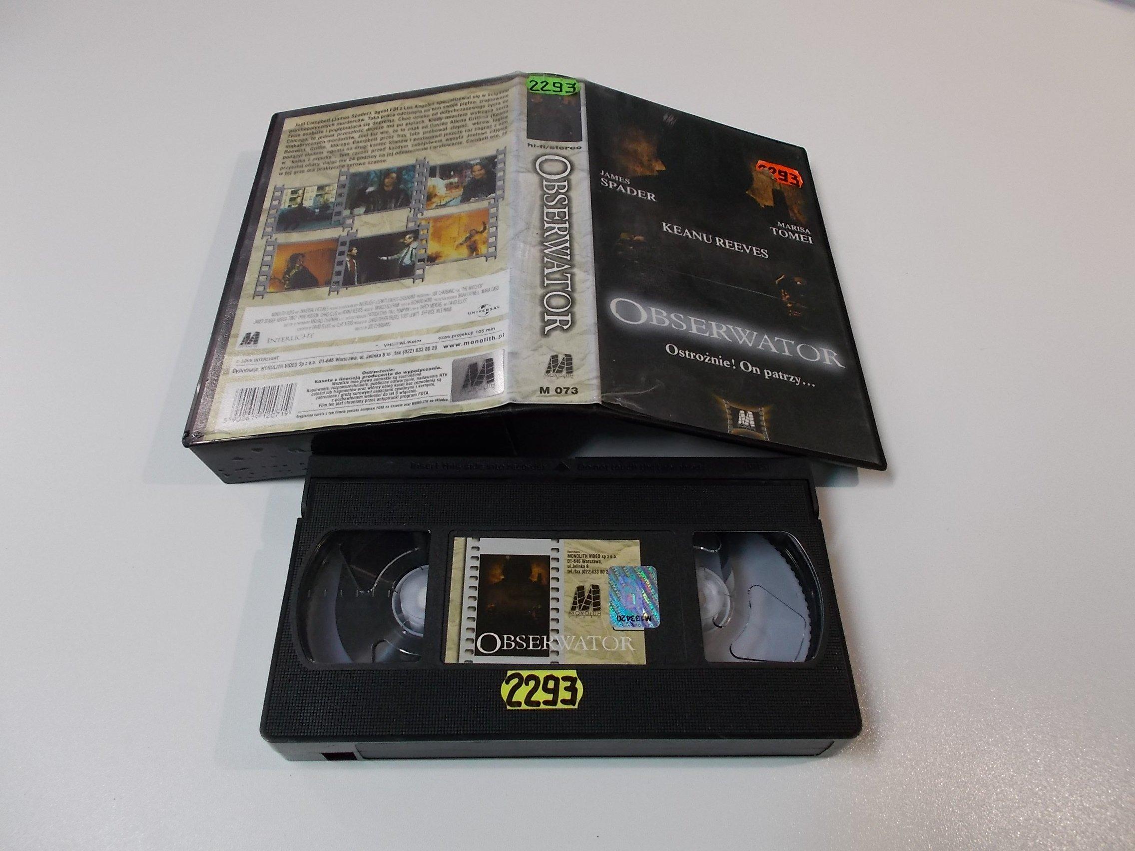 OBSERWATOR - VHS Kaseta Video - Opole 1597
