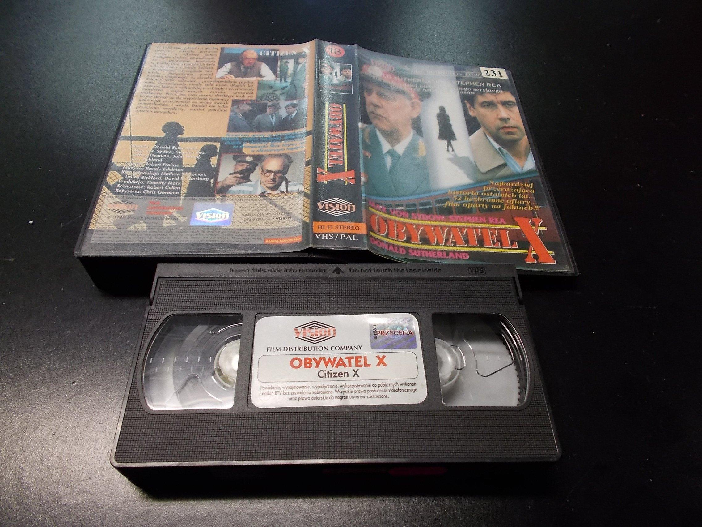OBYWATEL X -  kaseta VHS - 1238 Opole - AlleOpole.pl