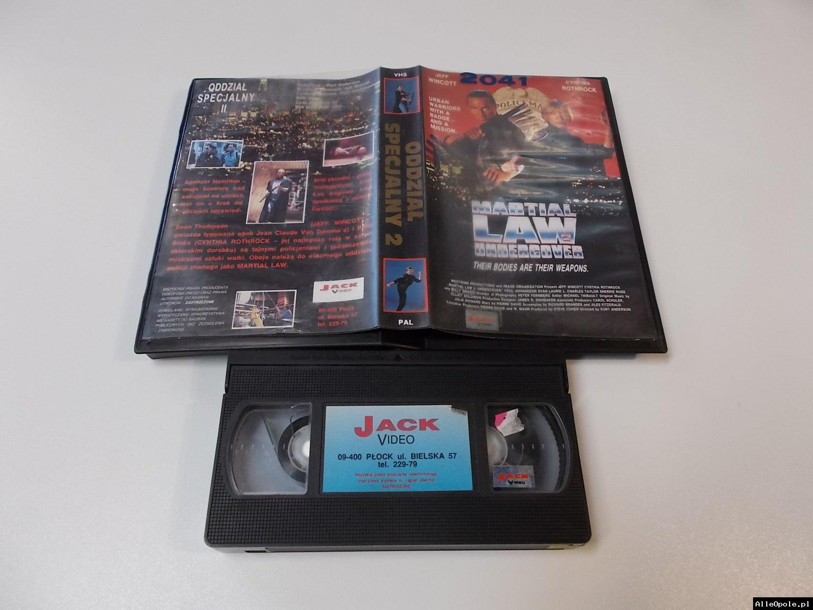 ODDZIAŁ SPECJALNY 2 - VHS Kaseta Video - Opole 1704