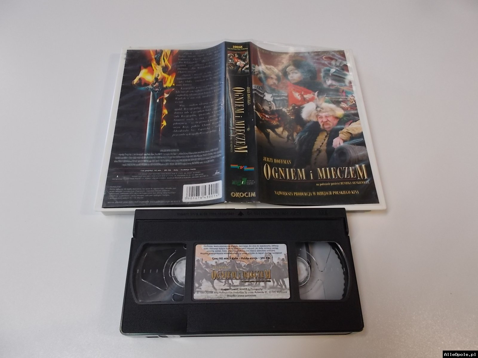 OGNIEM I MIECZEM - VHS Kaseta Video - Opole 1724