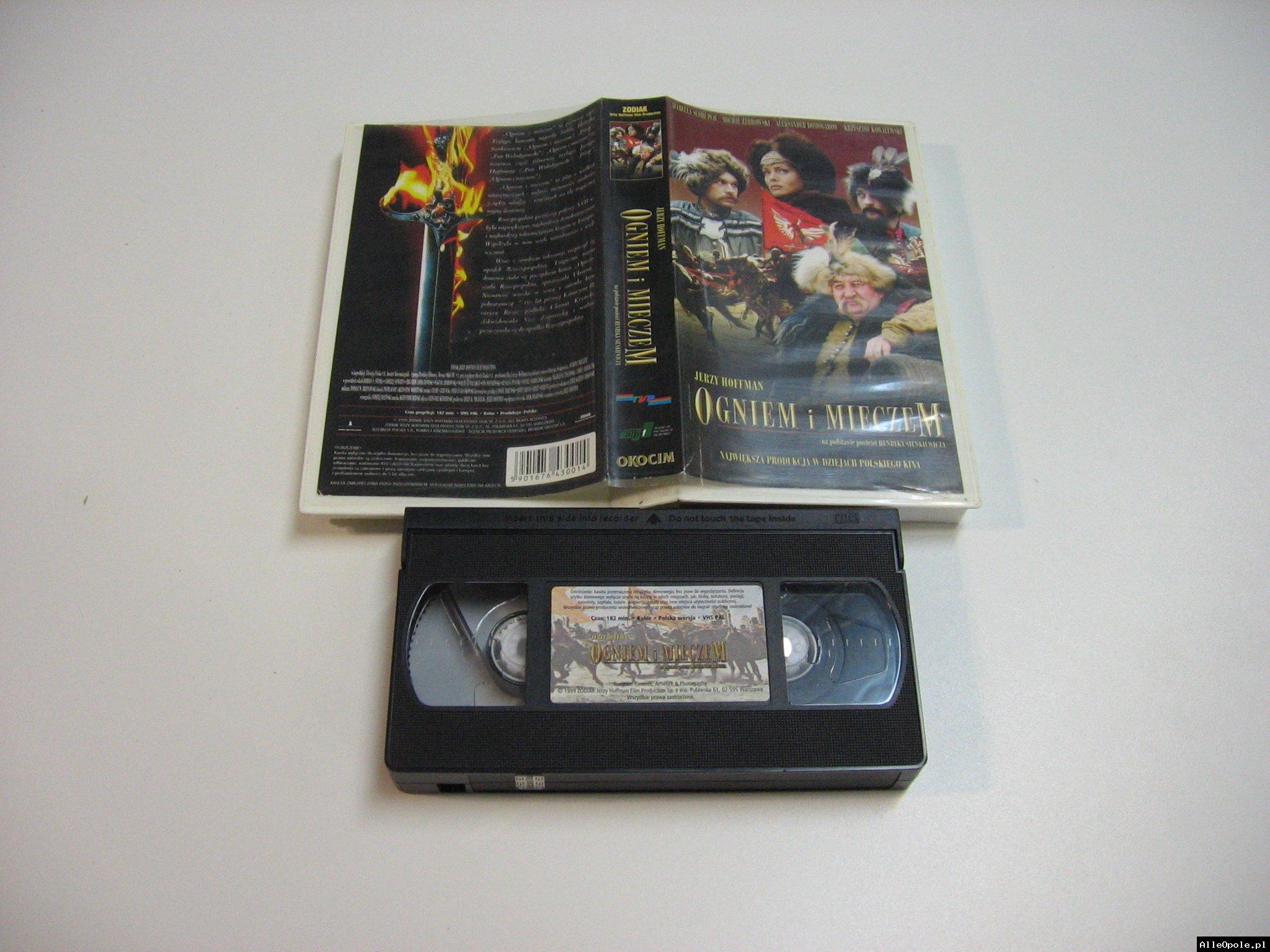OGNIEM I MIECZEM - VHS Kaseta Video - Opole 1804