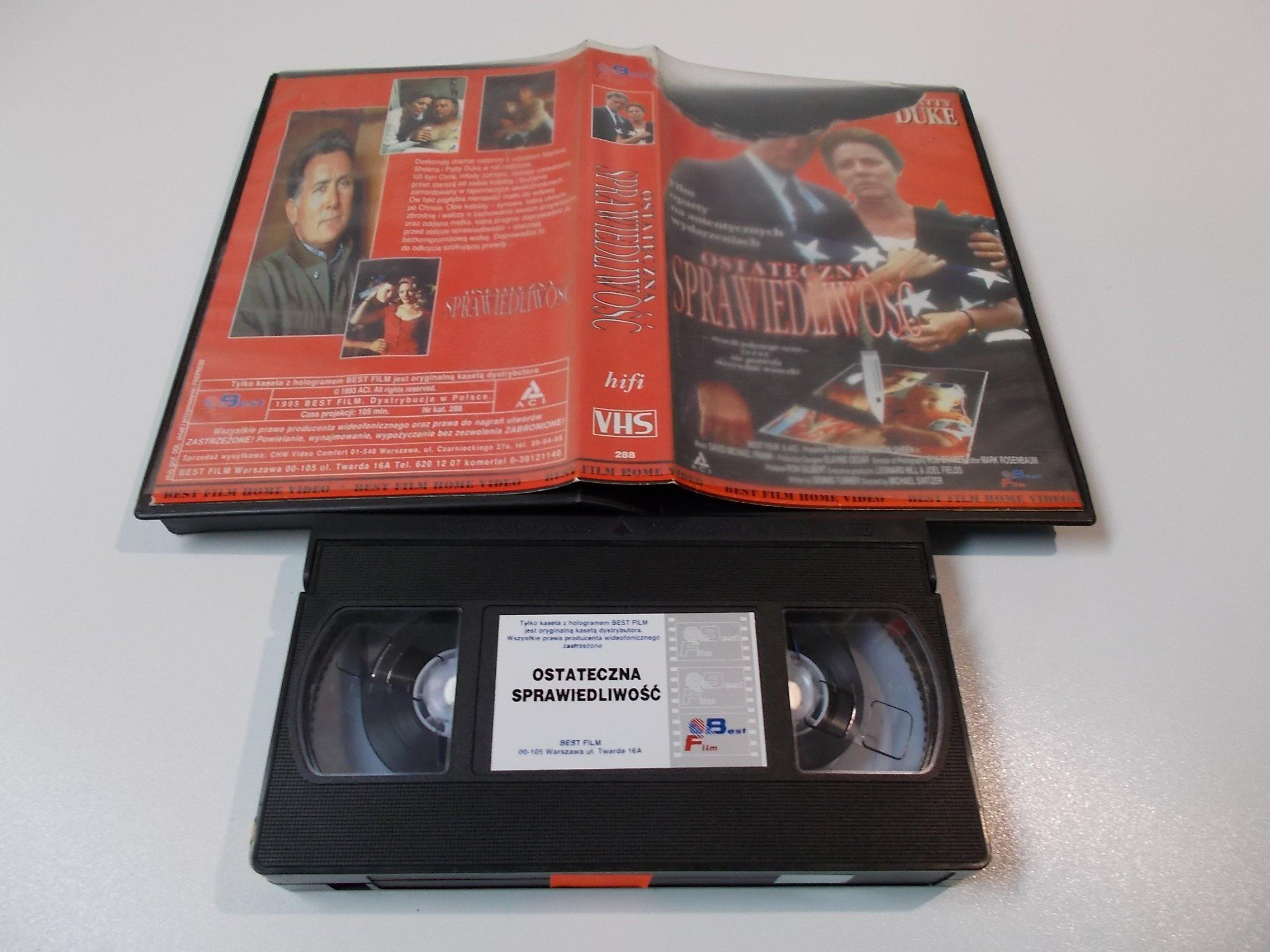 OSTATECYNA SPRAWIEDLIWOŚĆ - kaseta Video VHS - 1435 Sklep
