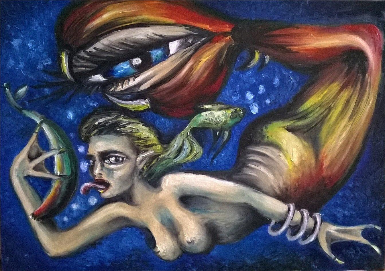 Obrazy o tematyce surrealistycznej sprzedam