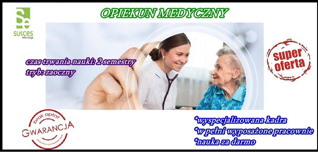 Opiekun Medyczny ZA DARMO w SE Opole