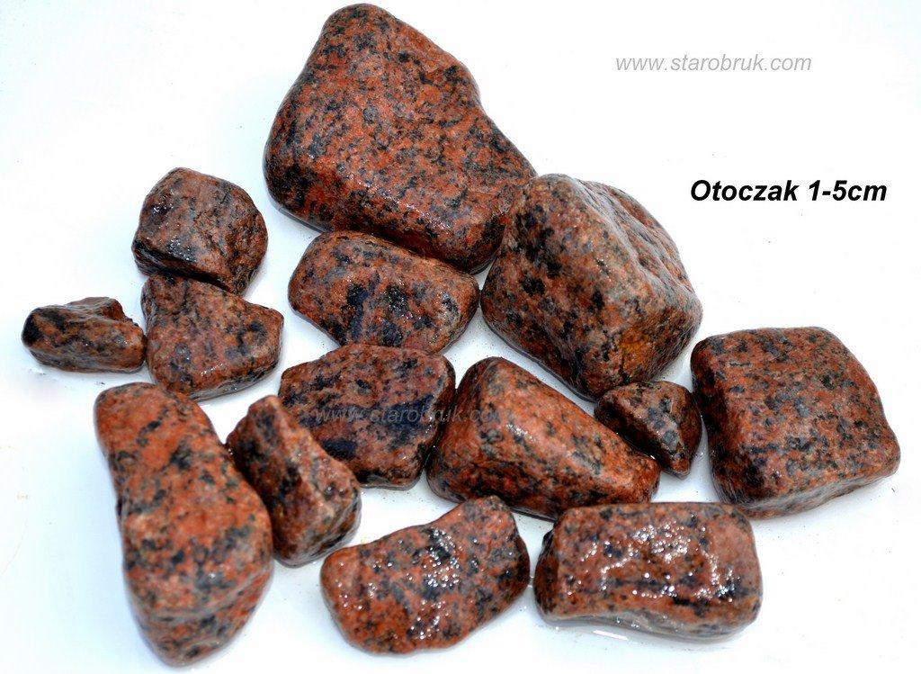 Otoczak granitowy czerwony do ogrodu kruszywa kamień ozdobny naturalny łupek grys