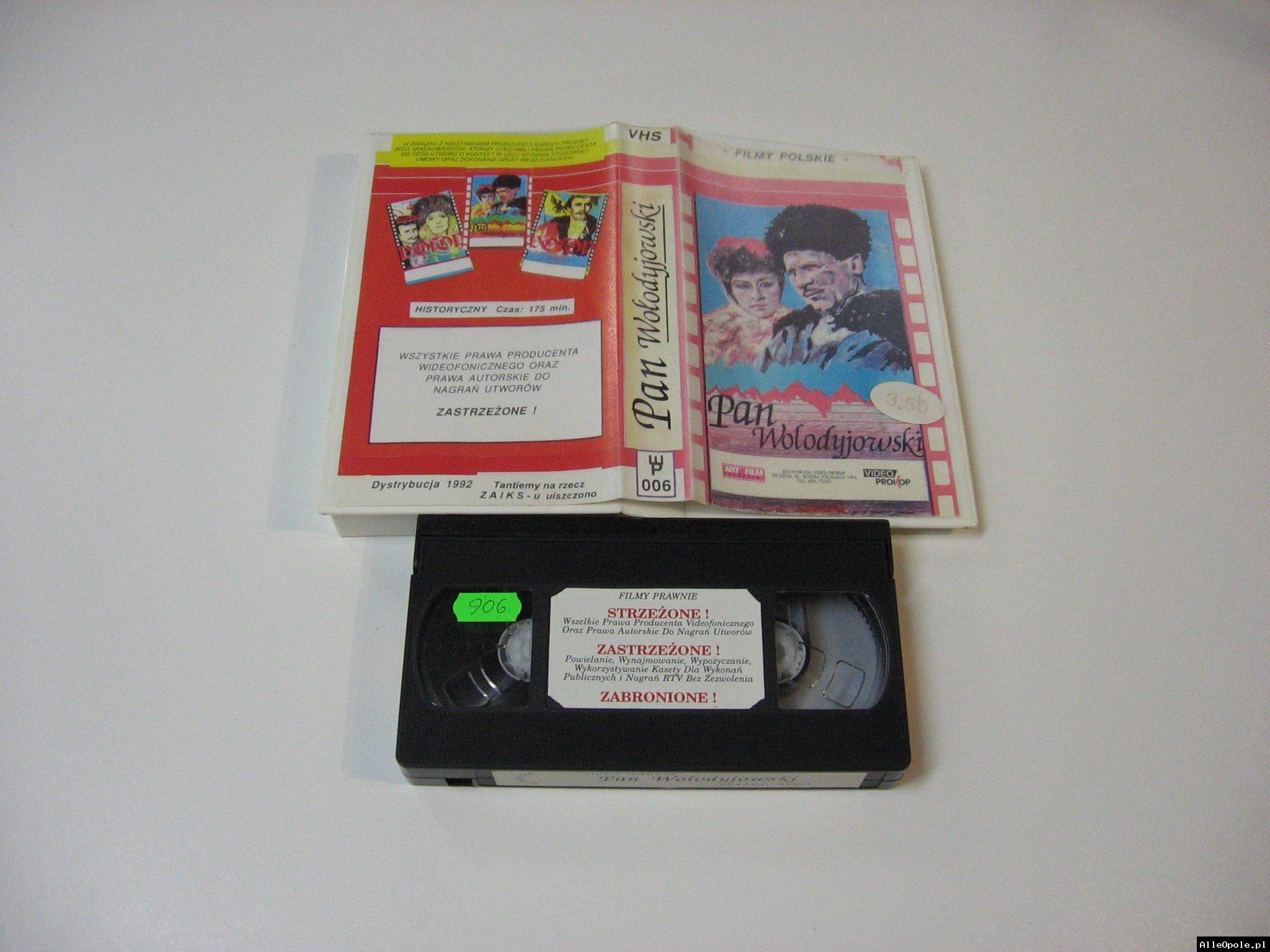 PAN WŁODYJIWSKI - VHS Kaseta Video - Opole 1777