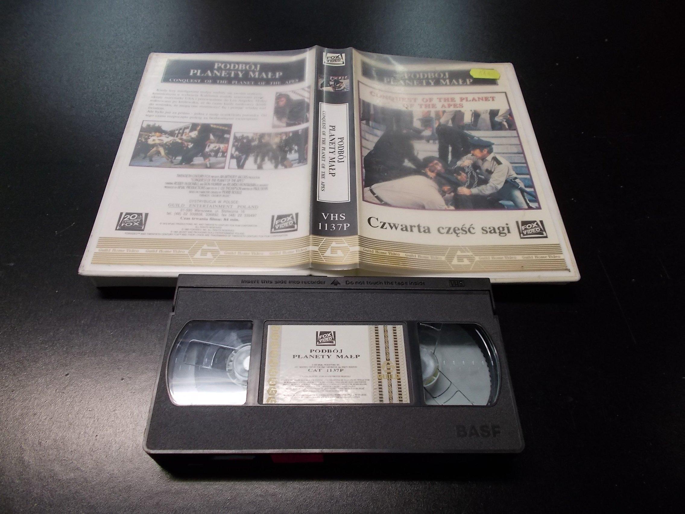 PODBÓJ PLANETY MAŁP  -  kaseta VHS - 1304 Opole - AlleOpole.pl