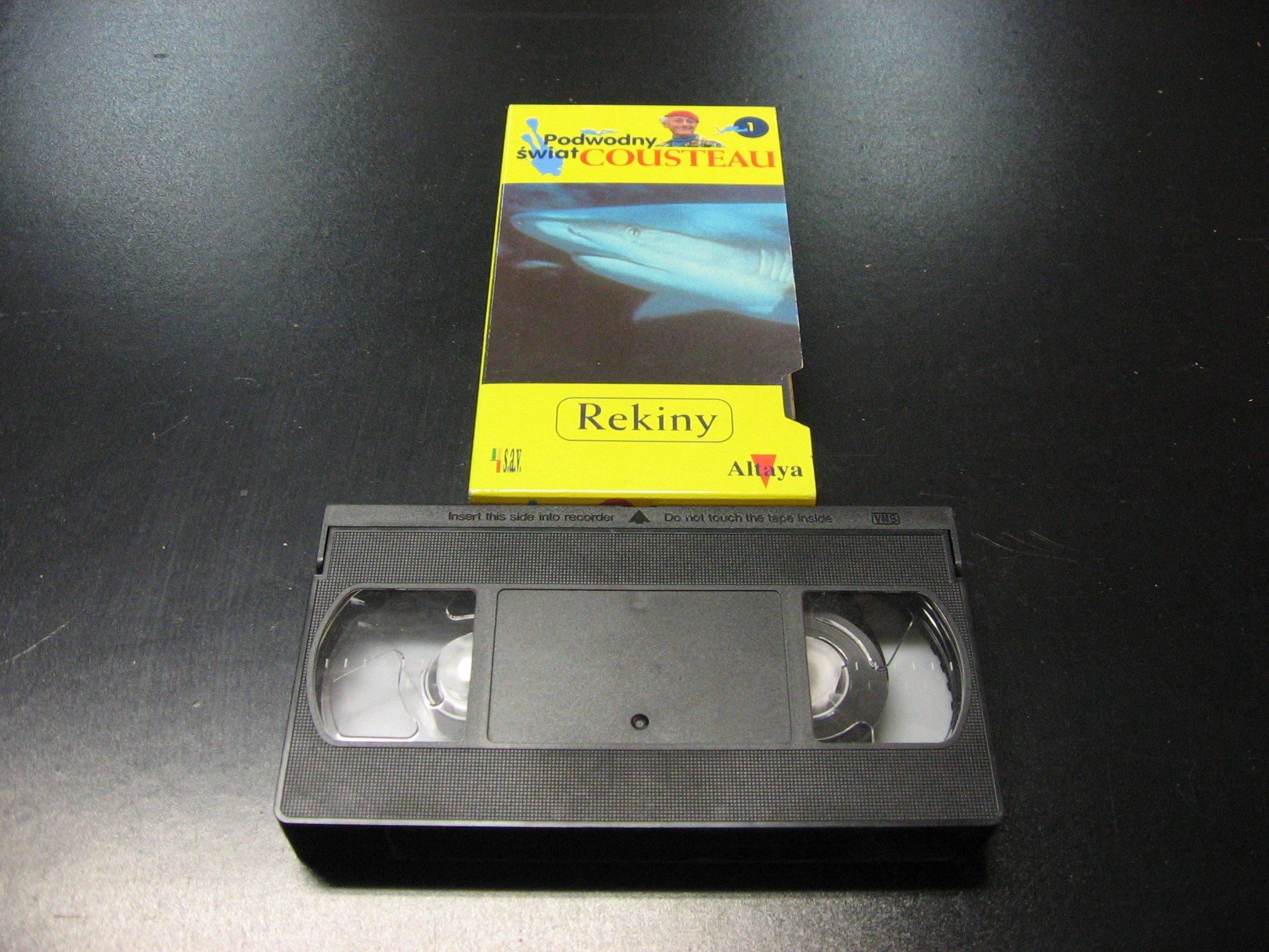 PODWODNY ŚWIAT COUSTEAU REKIN -  kaseta VHS - 1128 Opole - AlleOpole.pl