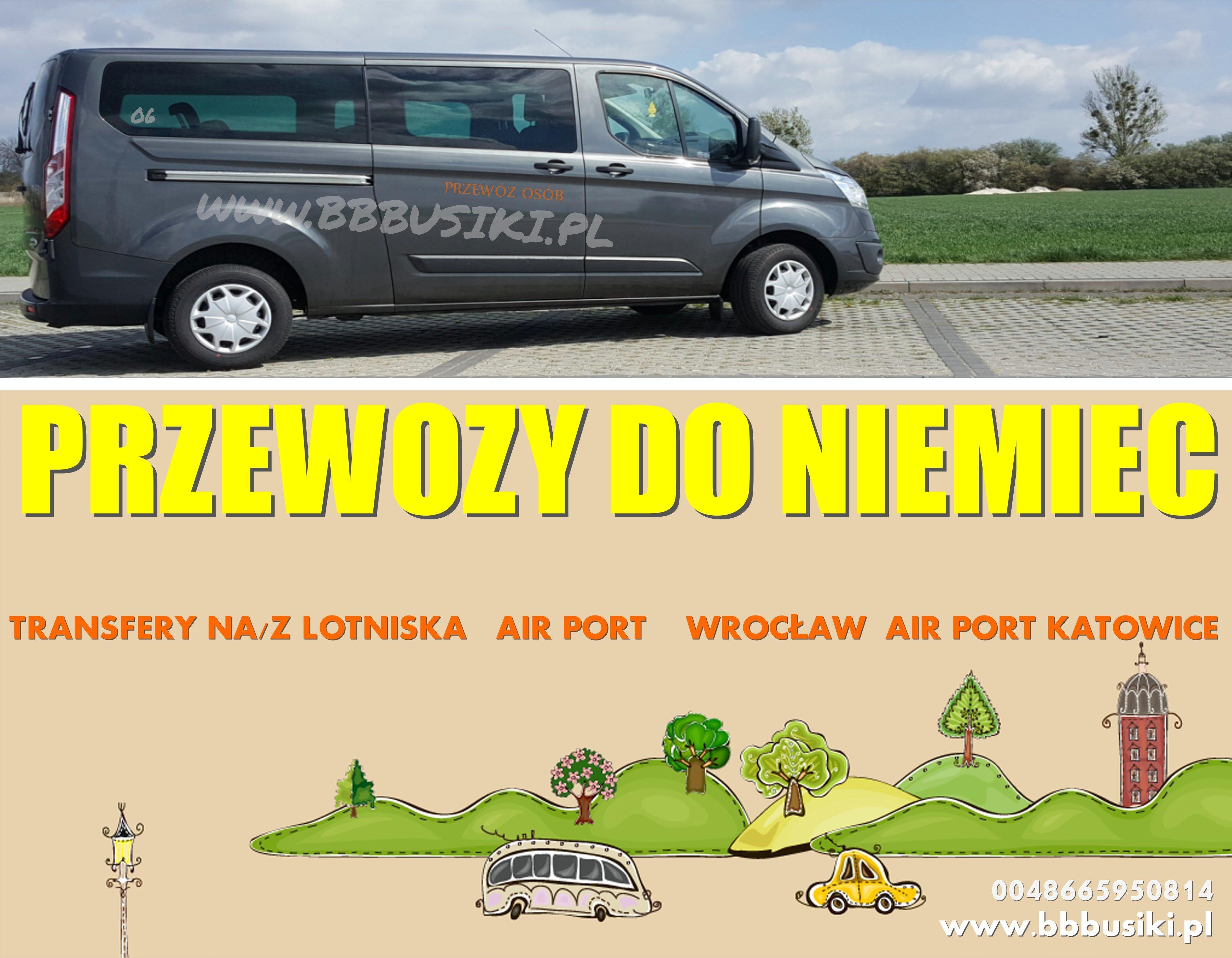 PRZEWOZY MIKROBUSAMI DO NIEMIEC AUSTRII  BBBUSIKI.PL