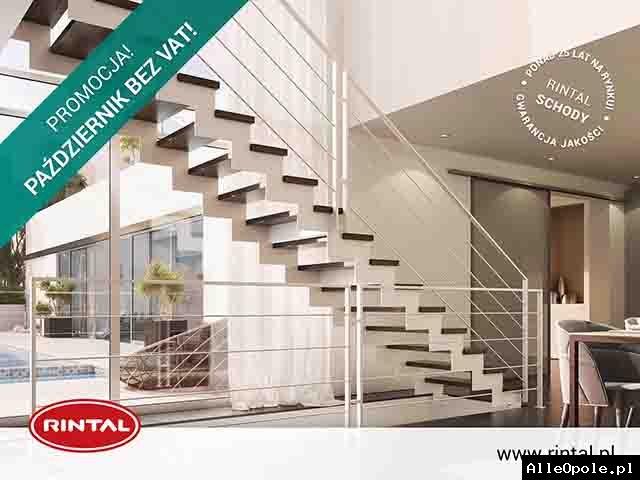 Październik bez VAT na schody RINTAL z poręczą i montażem!