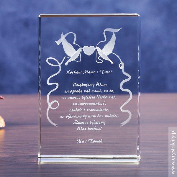 Pamiątka Ślubu »Gołąbki Miłości« w prezencie dla rodziców!