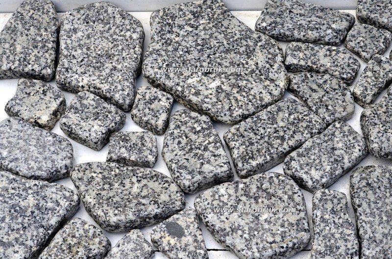 Płytki Granitowe Otoczone Rustykalne Mozaika, Kamień na taras, elewacje, murki