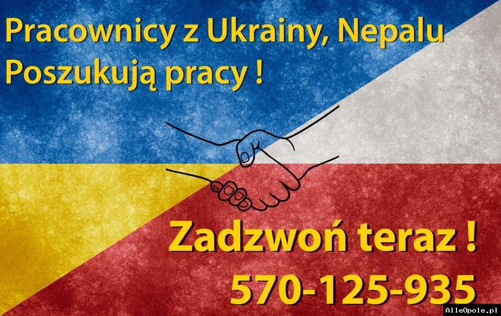 Pracownicy z Ukrainy, Bangladeszu, Nepalu podejmą pracę w Polsce.Zadzwoń 570-125-935