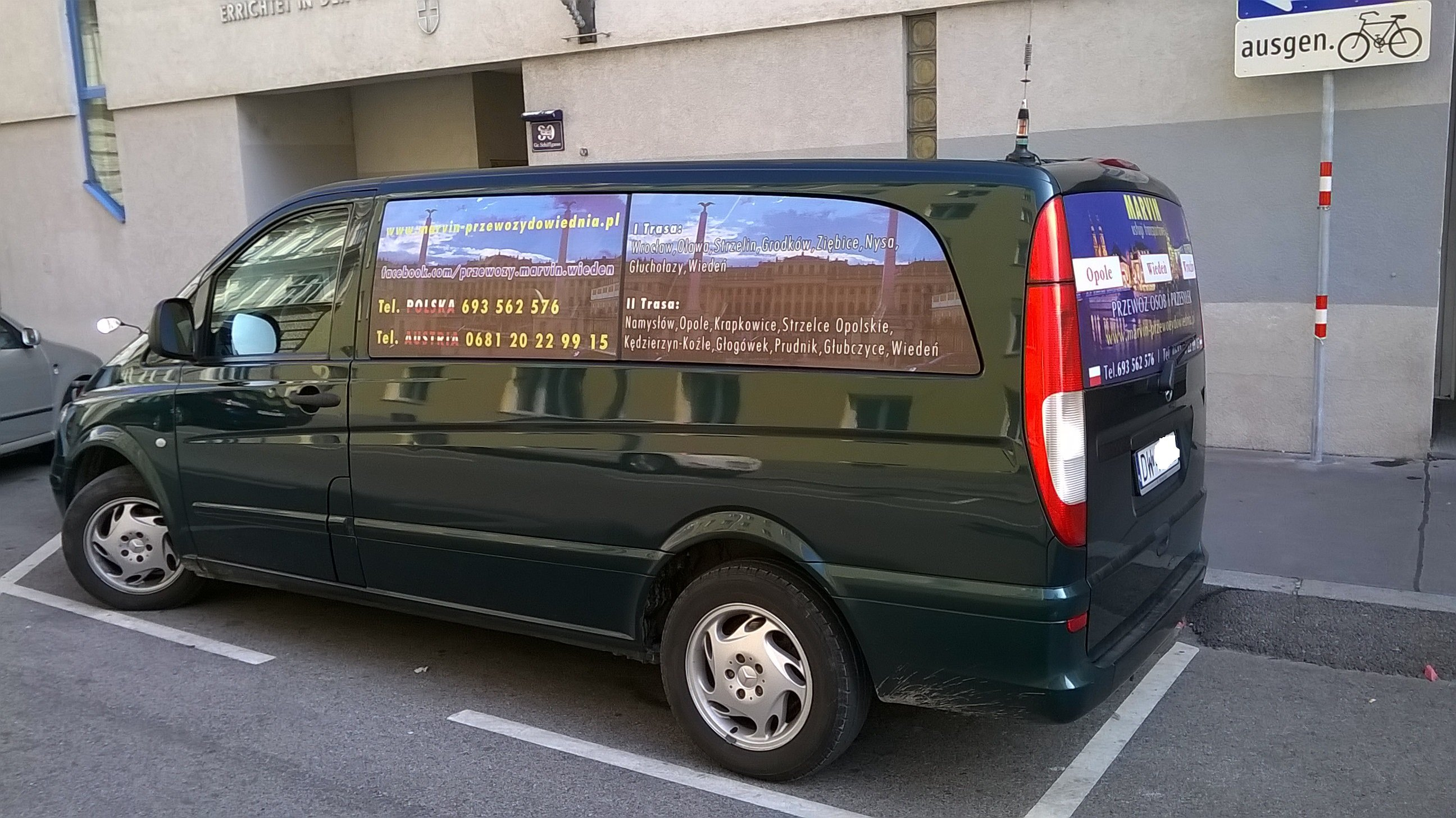 Przewozy do Austrii przejazdy Opole Wiedeń z adresu pod adres