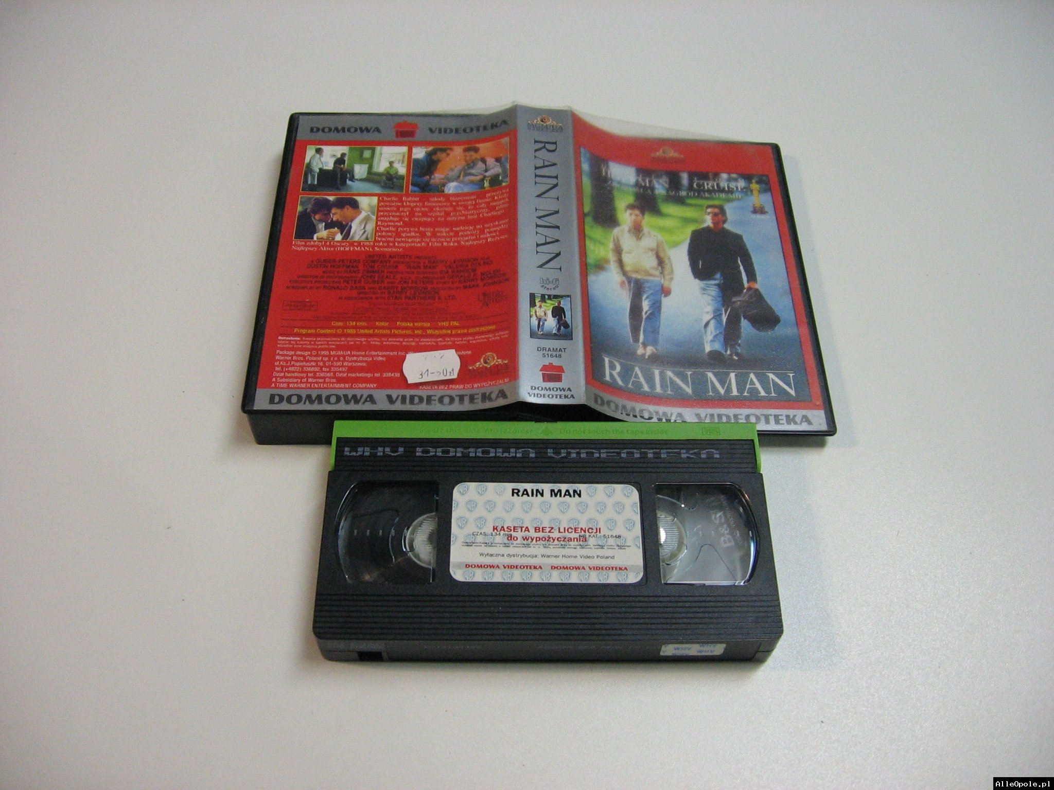 RAIN MAN - VHS Kaseta Video - Opole 1848