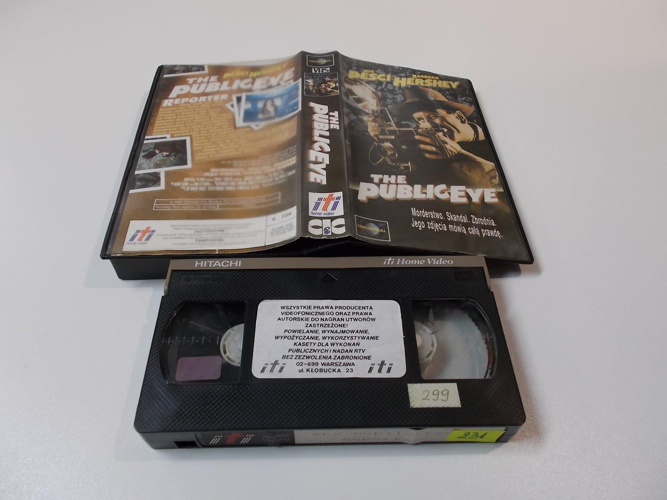 REPORTER - Joe Pesci Barbara Hershey - Kaseta Video VHS - Opole 1549