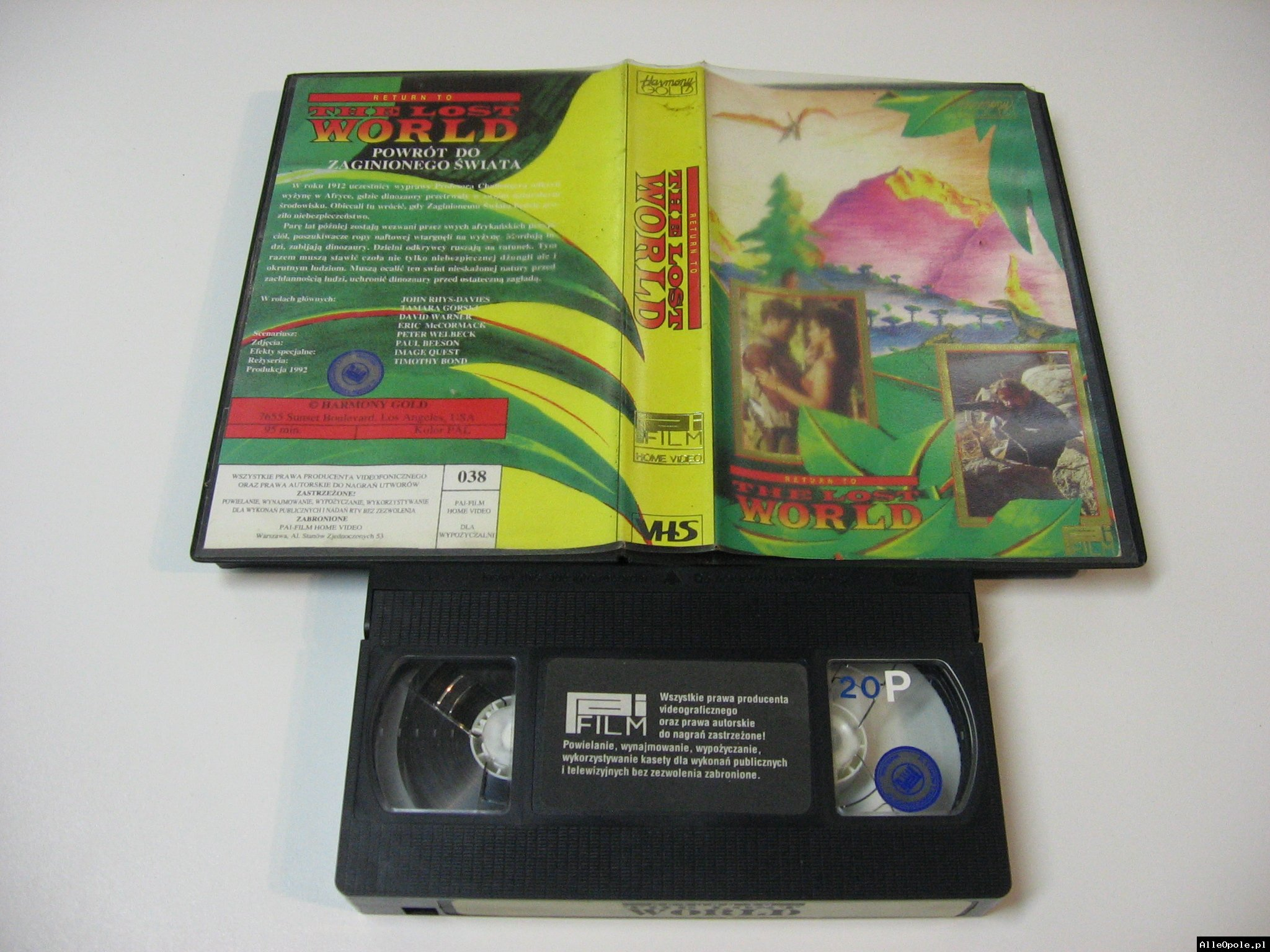 RETURN TO THE LOST WORLD - VHS Kaseta Video - Opole 1750
